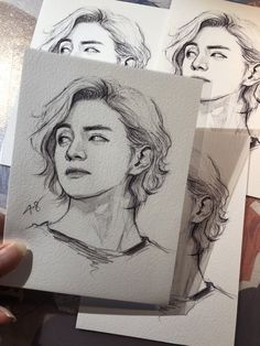 Can Tae actually do this hair styles. at least a glimpse of it! Kpop Drawings, Pencil Art Drawings, Drawing Sketches, Fanart Bts, Fan Art, Korean Art, Aesthetic Art, Bts Wallpaper, Drawing Reference