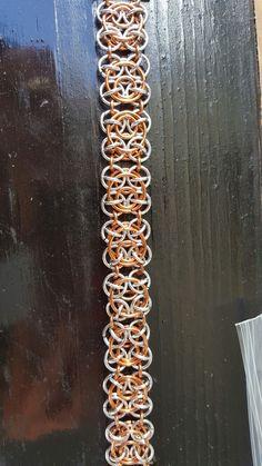 Gold and silver clockworks bracelet