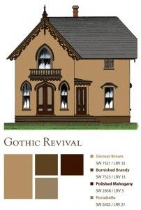 Gothic Paint Colors gothic revival home - designed with with steeply pitched roods and