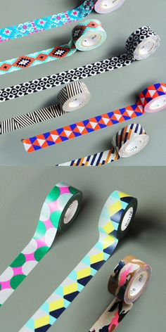 Retro Pattern Masking Tape