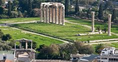 Hadrian's Arch (left lower corner) and the Temple of Zeus....