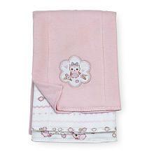 Koala Baby Girls 3 Pack Interlock Burp Cloths Pink Owl