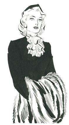 Rip Kirby, strip du 7 dévrier 1953. Honey Dorian dans toute sa beauté.