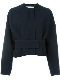 Victoria Victoria Beckham belted cropped jacket