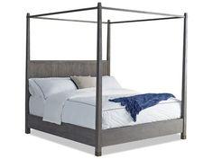 Brownstone Furniture Palmer Driftwood Gray Easter King Size Platform Bed