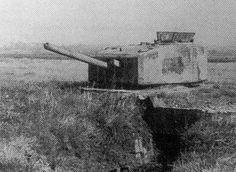 British Churchill tank turret used as tobruk bunker by Germans