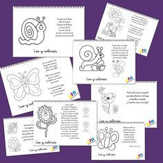 Lee y colorea poemas para la primavera Bilingual Kindergarten, Bilingual Classroom, Bilingual Education, Spanish Classroom, Spanish Teacher, Teaching Spanish, Dual Language Classroom, Spanish Songs, Learning Websites