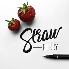 Strawberry-weather ☀️ #whichpendidyouuse #typography #strawberry