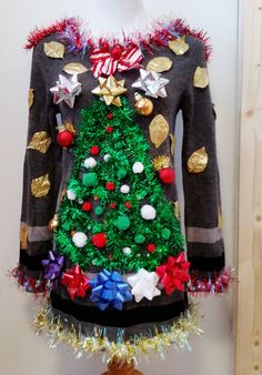 Best Ugly Christmas Sweater, Ugly Christmas Sweater Women, Tacky Christmas, Christmas Costumes, Christmas In July, All Things Christmas, Christmas Wreaths, Ugly Xmas Sweater, Crafts For Kids