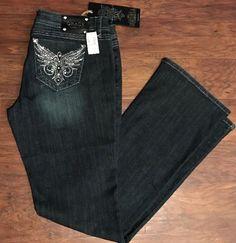 Women's Grace In LA Jeans BLING Boot Cut Jeans Buckle New Retail $69 Sz  30x33    eBay