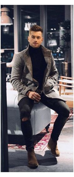 Mens Fall Outfits, Stylish Mens Outfits, Casual Outfits, Men Casual, Men's Winter Outfits, Formal Outfits, Simple Outfits, Mens Semi Formal Outfit, Men's Semi Formal