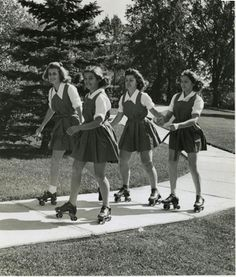 Roller Skating, 1950s - simple dreams...
