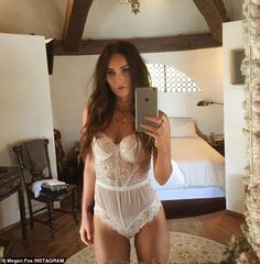 Angelic! Megan Fox transformed into a smoldering lingerie model as she shared a series of racy images on Friday afternoon to promote her new collection with Fredrick's of Hollywood