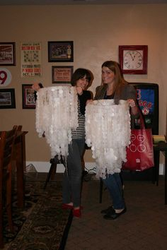 Learn to make wax paper chandeliers. Would be great for a wedding reception or formal party or your home !