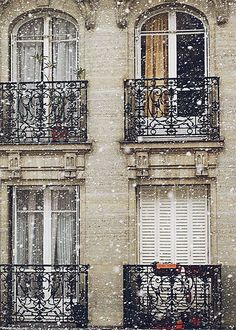 Paris when it snows. A hush fell over Paris.....