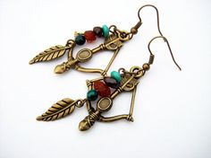 The Hunter's Bow: Earrings inspired by World of Warcraft ok I know this is nerdy but I want these!!!