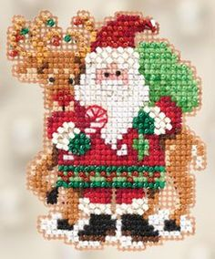MILL HILL KIT  Winter Holiday Collection Santa by DebiCreations, $5.99