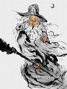 灰袍巫師甘道夫 47 | by expresiipaint