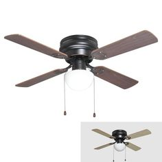 Ceiling Fans With Lights Fan With Light And Flush Mount