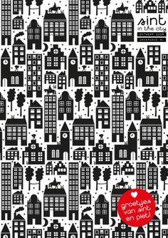 Sinterklaaspapier ontworpen door AnkePanke.nl en te koop via www.ompak.nl