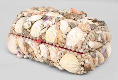 English Victorian accessories box sea shell