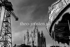 Barcelona Tibidabo fotografie black and white street photography