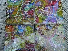 This woman is so talented in making fun, unique mosiac work that makes me want to give a hand at making my own mosiacs pieces! Mirror Mosaic, Glass Mosaic Tiles, Mosaic Wall, Tiles Uk, Broken Glass Art, Shattered Glass, Mosaic Crafts, Mosaic Projects, Fused Glass
