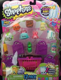 NEW Shopkins 12 Pack SEASON 2 Special Edition FLUFFY Baby HARD To FIND Sold Out