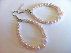 Two Hearts Bead As One - Pearl Bohemian Teardrop Hoops, $12.00 #handmade #jewelry #sale