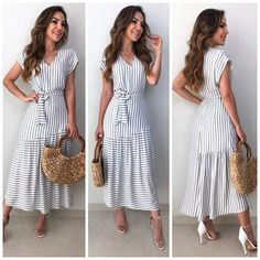 Modest Dresses for Ladies Over 50 Modest Dresses, Cute Dresses, Casual Dresses, Summer Dresses, Cute Fashion, Modest Fashion, Fashion Dresses, Meeting Outfit, Mode Outfits