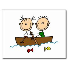 Shop Stick Figure Boat Fishing Tshirts and Gifts Postcard created by stick_figures. Art Drawings For Kids, Doodle Drawings, Doodle Art, Art For Kids, Summer Art Activities, Stick Figure Drawing, Figure Painting, Homemade Greeting Cards, Simple Doodles