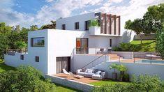 Découvrez les plans de cette une maison évolutive et innovante sur www.construiresamaison.com >>> Plan Ville, Architecture Details, Facade, House Plans, House Design, Mansions, House Styles, Home Decor, Houses