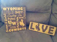 University of Wyoming Wood Crafts.