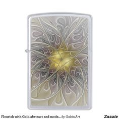 Flourish with Gold abstract and modern Fractal Art Zippo Lighter