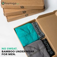 NO SWEAT! Thanks to our specially designed packages, you don't have to be home to receive your order. The package fits perfectly in the mailbox! #bamigo #nosweat #packages #order #mailbox #boxershorts #tshirts #socks #underwear #mensunderwear