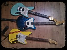 Ah yes, the Fender Jag-stang, Super-sonic, and Cyclone. Those guitars look and sound great. Sure, they were obscure models at first, but they look great in anyone's guitar rig.