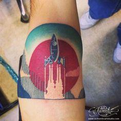 Spaceship | Authentic Art Tattoo