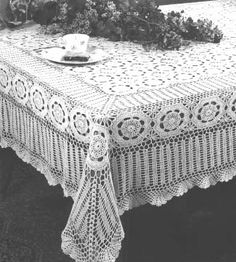 FREE CROCHETED TABLE CLOTH
