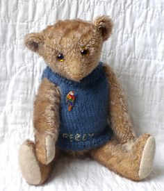 """Poor Percy, 10"""" inspired by a steiff bear from the 20s"""