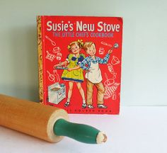 Susie's New Stove - The Little Chef's Cookbook, a 1950 First Edition Little Golden Book