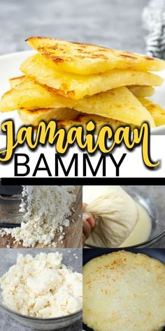 Amazing Jamaican bammy made from scratch is so easy to prepare, grated cassava is shaped into a disc, and cooked in a skillet, Best Gluten Free Recipes, Gluten Free Desserts, Vegan Recipes Easy, Vegan Desserts, Delicious Desserts, Vegetarian Recipes, Cooking Recipes, Cooking Tips, Jamaican Recipes