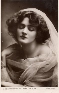 Miss Lily Elsie, an Edwardian actress whose beauty was allegedly the impetus for Cecil Beaton's photography career.