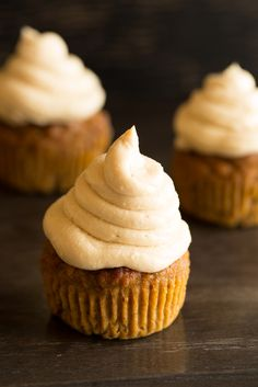 Pumpkin Cupcakes with Maple Cream Cheese Frosting! Low glycemic, refined sugar free and gluten free! By Revivalist Kitchen!