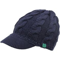adidas Notre Dame Fighting Irish Ladies Cable Visor Knit Beanie - Navy Blue