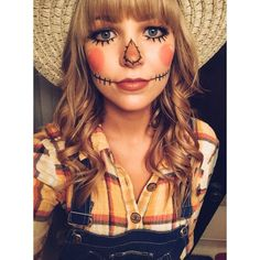 halloween costumes for girls Fasching Schminken Schminktipps Halloween Mono, Halloween Scarecrow, Halloween Costumes For Girls, Costume Halloween, Scary Halloween, Cute Scarecrow Costume, Halloween Ideas, Halloween Season, Halloween Stuff