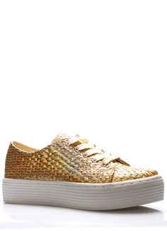 Zlaté metalické tenisky na platformě Sixtyseven(314541) - 2 Front Row, Louis Vuitton, Sneakers, Shoes, Fashion, Tennis, Moda, Slippers, Zapatos