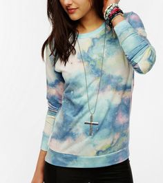 $39 at urban outfitters sparkle and farmed galaxy sweatshirt
