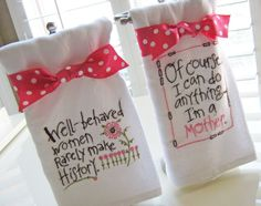 Diva Dishtowels Gift Set #1 (Pink) | YouCanMakeThis.com