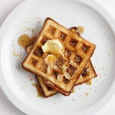 Coconut oil adds a rich sweetness to this waffle batter; shredded coconut and a quick toast deliver the crunch.