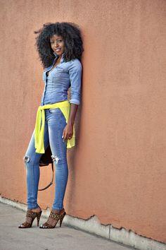 brown-princess:  richardmurrayhumblr:  ecstasymodels:  Fitted Denim Shirt + Ripped Skinny Jeans Style Pantry   meow sapatoes brown-princess  Meus favoritos, the shoes and the hair richardmurrayhumblr
